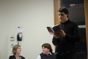 Dan reading at Regeneration launch
